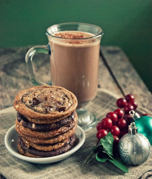Chocolate-Bourbon Eggnog and Felix & Norton Cookie Dough