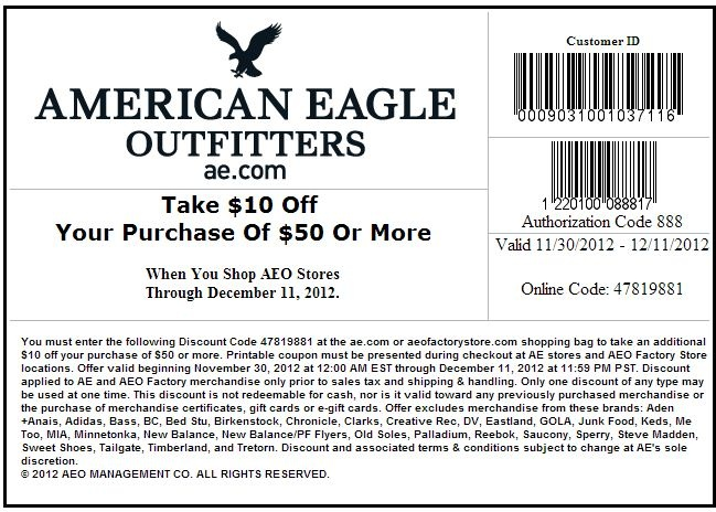 American eagle outfitters coupons june 2018