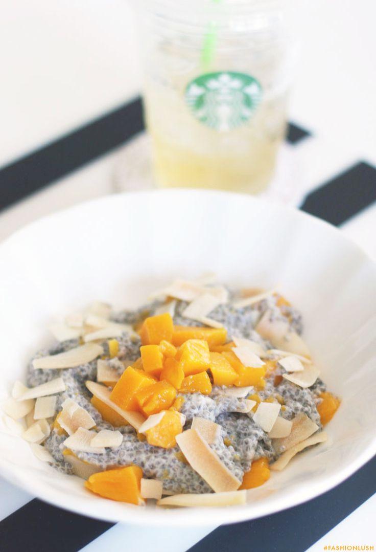 mango // coconut // chia pudding ++ | // breakfast | Pinterest