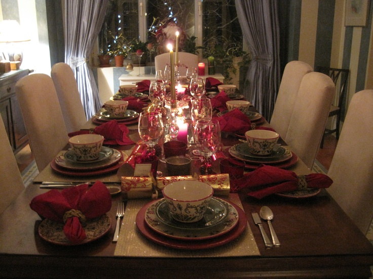 Table Setting For Dinner Party : My Christmas dinner party table setting  Christmas  Pinterest