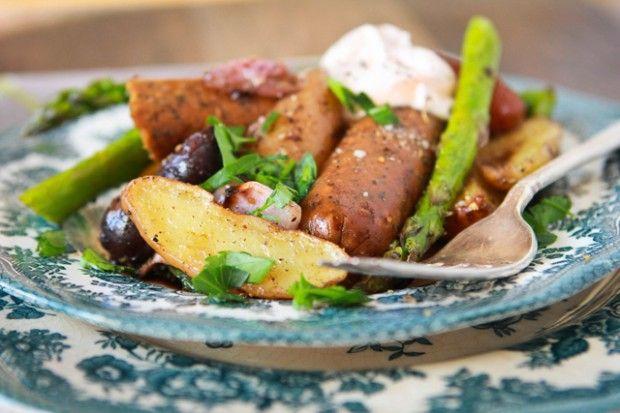 Holy Simple! Sausage & Potato Bake ~ #Vegan #Food for Husbands