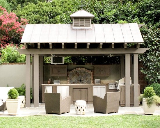 Fairview rd residence patio kitchen pinterest for Covered outdoor kitchen ideas