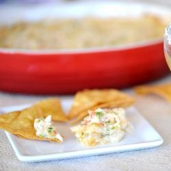 Tequila Green Chili Crab Dip | Heaven on a paper plate! | Pinterest