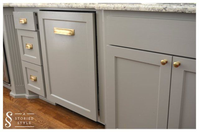 Rockport Gray look great with Brass knobs