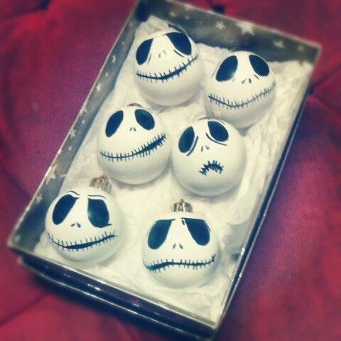 Nightmare before Christmas Baubles ..... I make them!