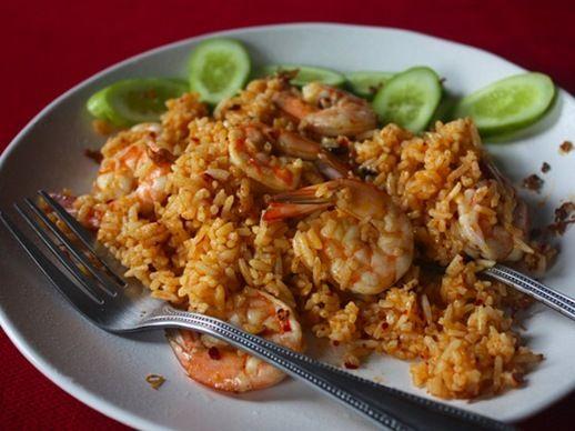 Shrimp Fried Rice with Nam Prik Pao and Crispy Lemongrass | Recipe