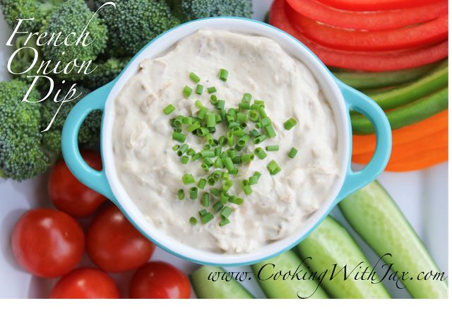 Cooking with Jax: French Onion Dip *I would use veggie broth for ...
