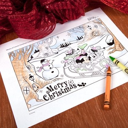 free printables Disney Christmas Coloring Pages