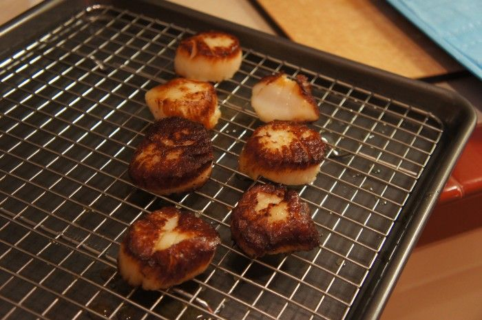 Seared Scallops with Carrot-Marjoram Sauce