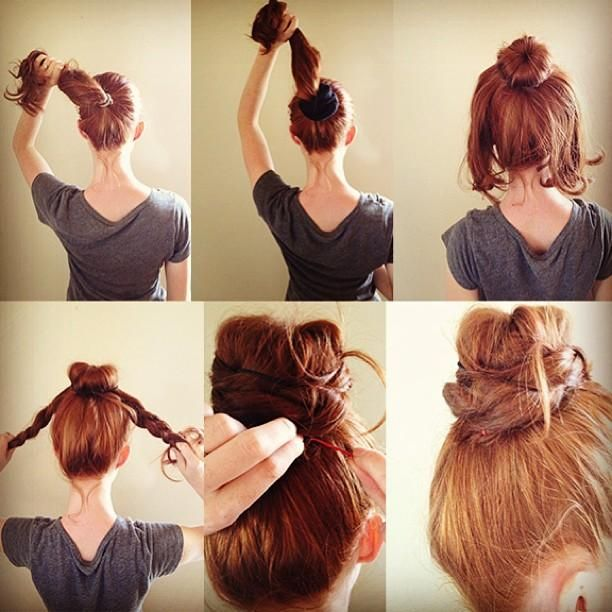 Braided Bun for Red Hair