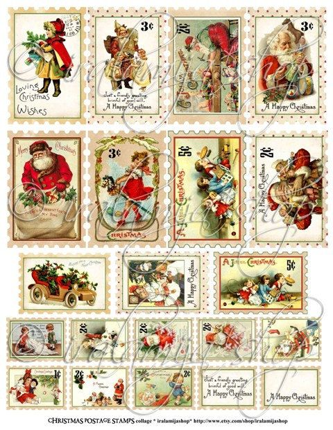 "Blank Calendar Stamp : Search results for ""free santa postage stamp printable"