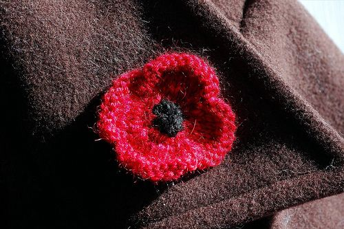 Knitting Pattern For Anzac Day Poppies : Knit poppy for Remembrance Day Poppies Pinterest