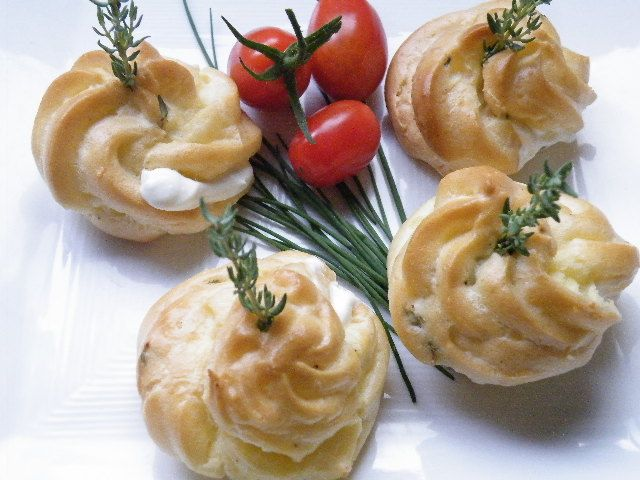 Feeling French - Goat Cheese, Parmesean and Thyme Gougeres