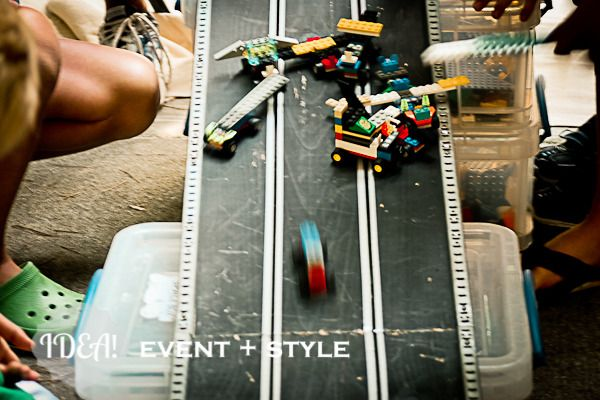 Lego- build then race vehicles on track