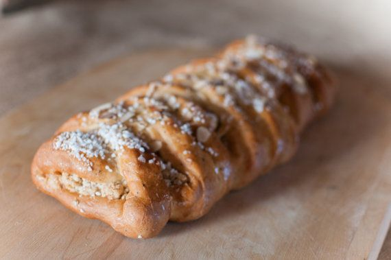 Almond filled Swedish coffee bread by LuAnnsBakery on Etsy, $9.00