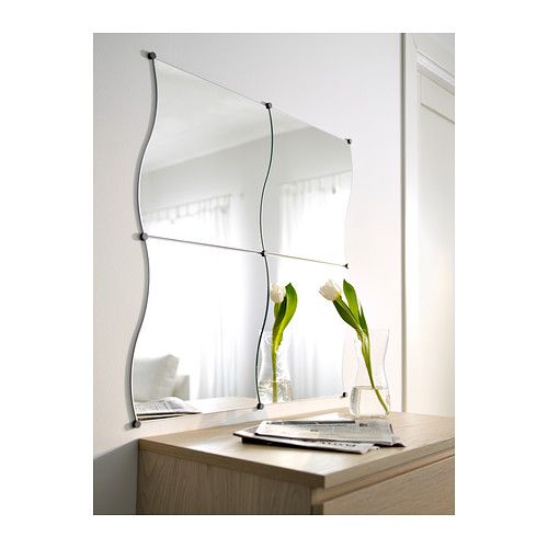 Ikea Kulla Floor Lamp White ~ KRABB Mirror IKEA Can be added on to, to make any shape or size Can