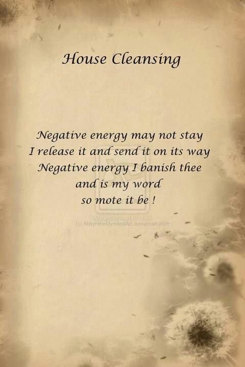 House cleansing spell wicca spells etc pinterest Cleansing bad energy from home