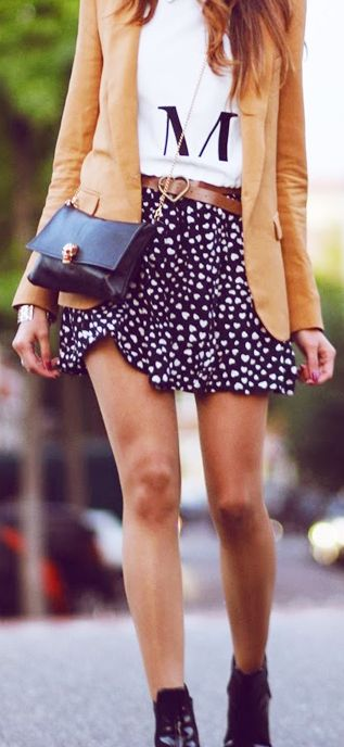 Belted-Skirt And Blazer