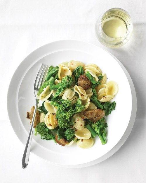 and broccoli pasta orecchiette with chicken sausage and broccoli rabe ...