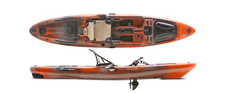 pedal powered kayak fishing pinterest