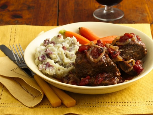 Beef Short Ribs with Tomato-Wine Sauce | Recipe