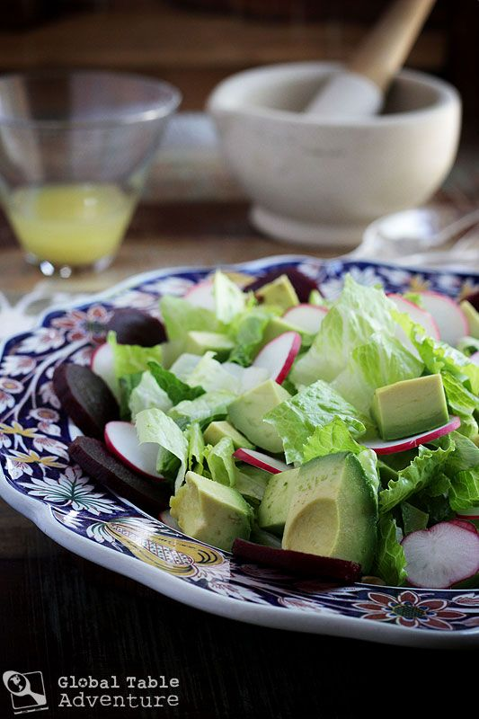 "Swazi Salad, a.k.a. ""Slaai"" ... avocado, beets, radish, peanuts ..."