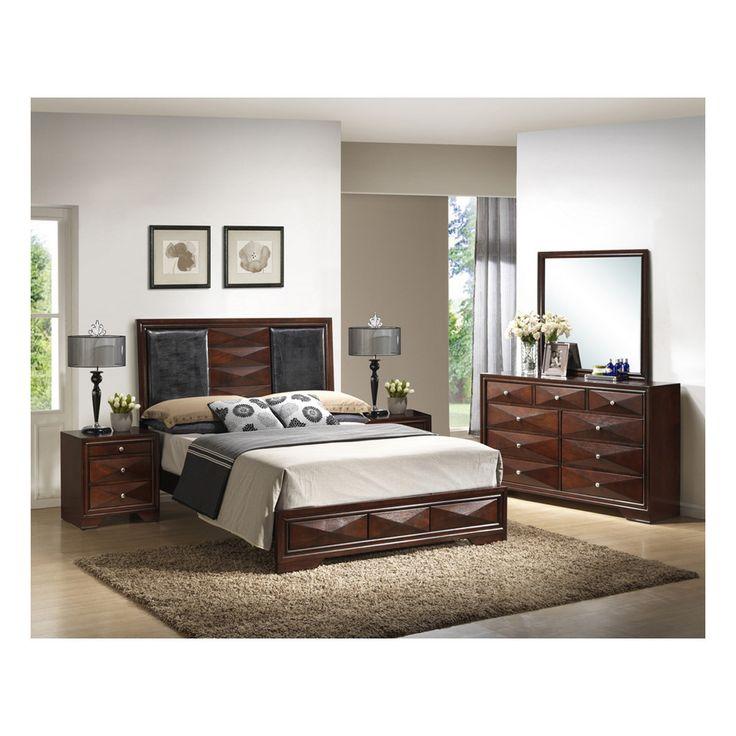 Windsor Brown  Piece Modern Bedroom Set Products Pinterest