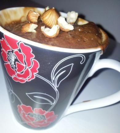 Recette de Mug cake au nutella (cuison au micro onde dans une tasse nouvelle tendance gourmande)