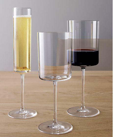 Edge wine glasses - Square bottom wine glasses ...