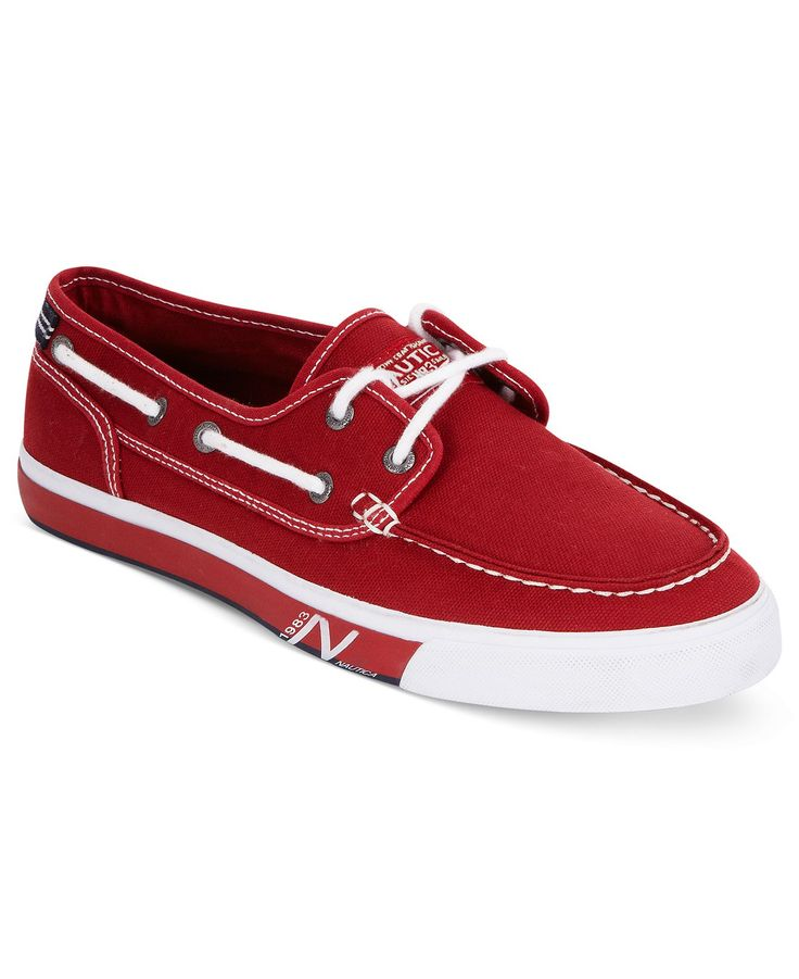 Nautica Shoes, Spinnaker Canvas Boat Shoes - Men - Macy's