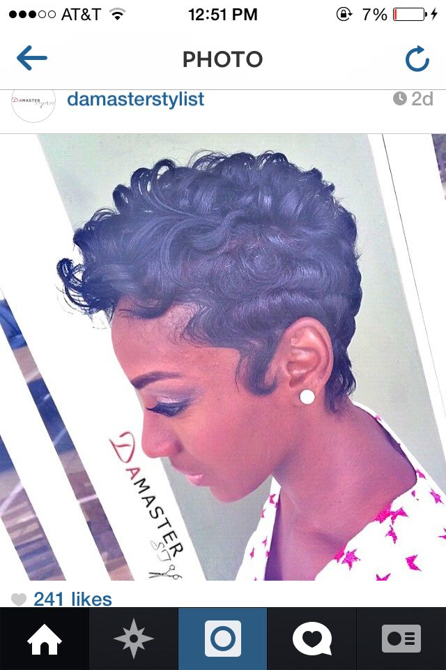 Short hairstyles for black women | Short and Sassy | Pinterest