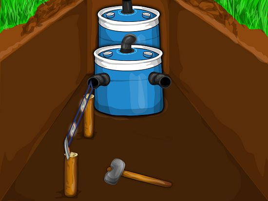How to construct a small septic system for Build a septic tank