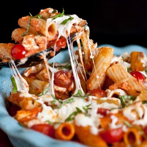 Grilled Chicken Caprese Pasta | Bee-friendly recipes | Pinterest