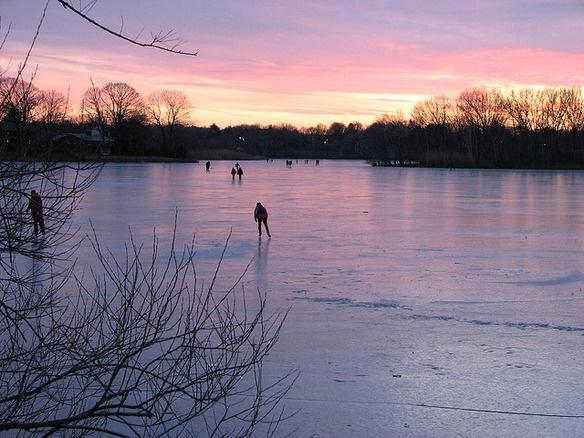 Ice skating on Spy Pond in Arlington! | Boston Excitement ...