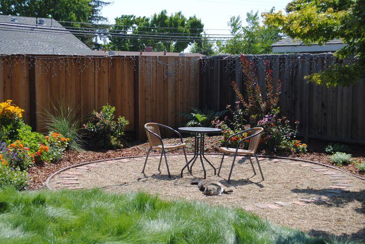 Backyard Mulch Patio : Gravel Backyard Ideas  Gravel Patio  Backyard ideas  Pinterest