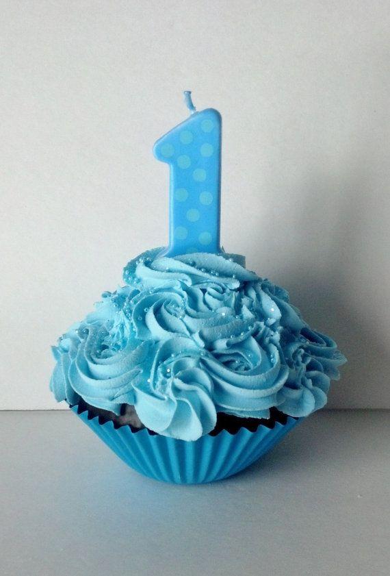 1st birthday boy cupcake