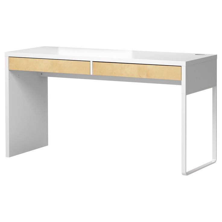 MICKE Desk - white/birch effect - IKEA | Playroom/Office | Pinterest