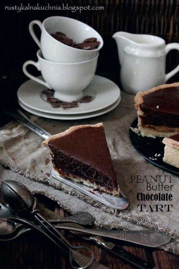 Peanut butter chocolate tart | Food: Tarts | Pinterest