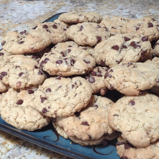 Cowboy cookies-oatmeal chocolate chip | Food wonderful food | Pintere ...