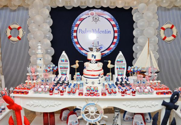 Festa infantil de marinheiro