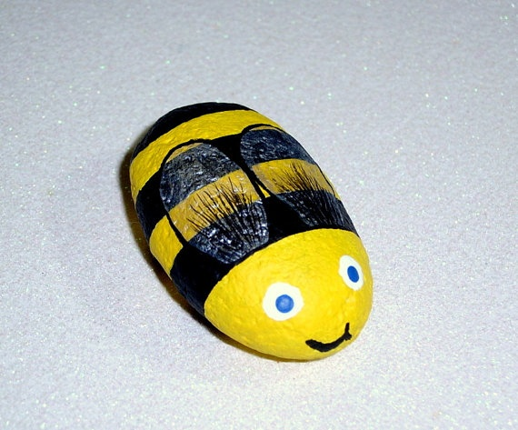 Reserve order for wendy beaton hand painted rocks by for Bumble bee mural