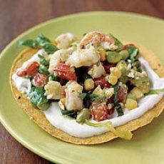 Shrimp-Avocado Tostadas | food i want to try | Pinterest
