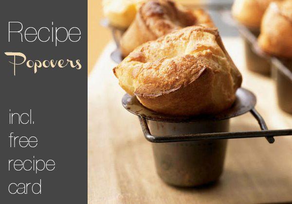 Recipe // Popovers | Recipes | Pinterest