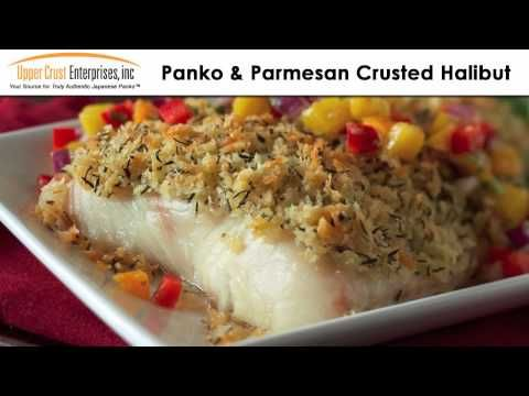 Parmesan-Panko Crusted Halibut Recipe — Dishmaps