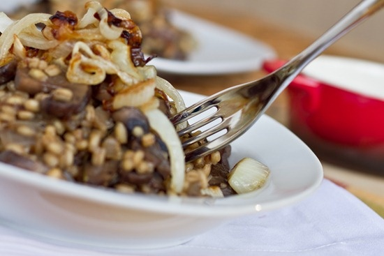 Musroom Risotto with Caramelized Onions - this sounds AMAZING!