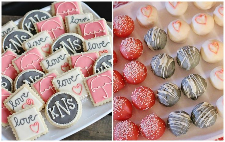 Rustic + Elegant Bridal Shower Ideas - sweet treats with a message. #bridalshower #weddingideas