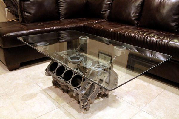 Engine block coffee table other uses for pinterest for Engine block coffee table