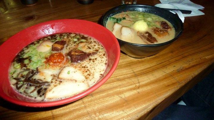 ramen w/ pork chashu, kikurage, salt boiled egg, & braised pork belly ...