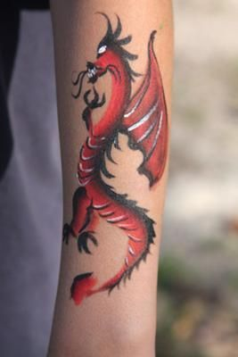 how to cut out dragon body art
