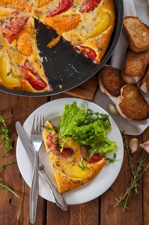 ... клафути Tomato Clafoutis | My Cooking Creations | Pinterest